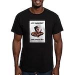 Dangerous Rattlesnake Poster Men's Fitted T-Shirt