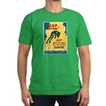 Leap Don't Lag Frog Men's Fitted T-Shirt (dark)