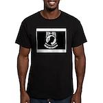 Military POW MIA Flag Men's Fitted T-Shirt (dark)