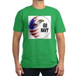 Go Navy Men's Fitted T-Shirt (dark)