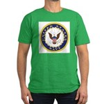 United States Navy Emblem Men's Fitted T-Shirt (da