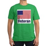American Flag Veteran Men's Fitted T-Shirt (dark)