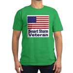 Desert Storm Veteran Men's Fitted T-Shirt (dark)