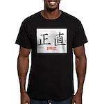Samurai Honesty Kanji Men's Fitted T-Shirt (dark)