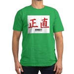 Samurai Honesty Kanji Men's Fitted T-Shirt (dark)
