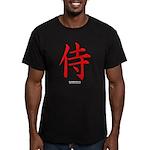 Japanese Samurai Kanji Men's Fitted T-Shirt (dark)