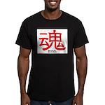 Samurai Soul Kanji Men's Fitted T-Shirt (dark)