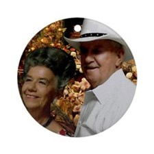 Ike and Ruby Chirstmas Ornament (Round)