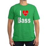 I Love Bass Men's Fitted T-Shirt (dark)