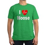 I Love Moose Men's Fitted T-Shirt (dark)