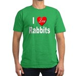 I love Rabbits for Rabbit Lov Men's Fitted T-Shirt