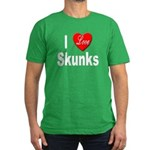 I Love Skunks for Skunk Lover Men's Fitted T-Shirt