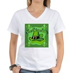 Kiss Me I'm Irish Women's V-Neck T-Shirt
