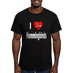 I Love Hummingbirds Men's Fitted T-Shirt (dark)