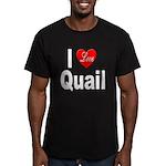 I Love Quail Men's Fitted T-Shirt (dark)