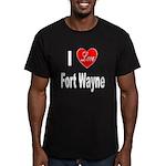 I Love Fort Wayne Men's Fitted T-Shirt (dark)