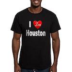 I Love Houston Men's Fitted T-Shirt (dark)
