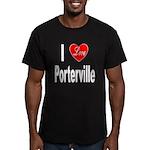 I Love Porterville Men's Fitted T-Shirt (dark)