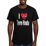 I Love Terre Haute Men's Fitted T-Shirt (dark)