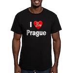 I Love Prague Men's Fitted T-Shirt (dark)