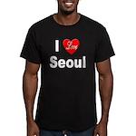 I Love Seoul South Korea Men's Fitted T-Shirt (dar