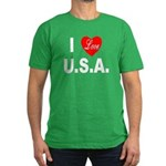 I Love U.S.A. Men's Fitted T-Shirt (dark)