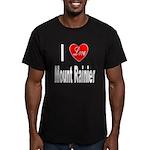 I Love Mount Rainier Men's Fitted T-Shirt (dark)
