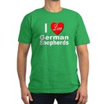 I Love German Shepherds Men's Fitted T-Shirt (dark