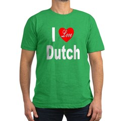 I Love Dutch Men's Fitted T-Shirt (dark)