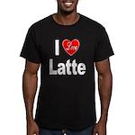 I Love Latte Men's Fitted T-Shirt (dark)