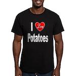 I Love Potatoes Men's Fitted T-Shirt (dark)