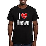 I Love Brown Men's Fitted T-Shirt (dark)