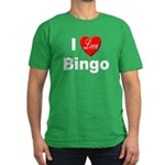 I Love Bingo Men's Fitted T-Shirt (dark)