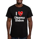 I Love Obama Biden Men's Fitted T-Shirt (dark)