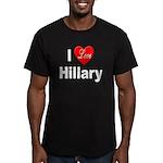 I Love Hillary Men's Fitted T-Shirt (dark)