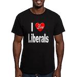 I Love Liberals Men's Fitted T-Shirt (dark)