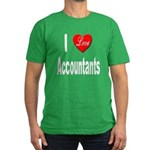 I Love Accountants Men's Fitted T-Shirt (dark)