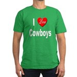 I Love Cowboys Men's Fitted T-Shirt (dark)