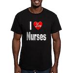 I Love Nurses Men's Fitted T-Shirt (dark)