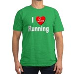 I Love Running Men's Fitted T-Shirt (dark)