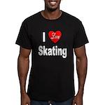 I Love Skating Men's Fitted T-Shirt (dark)