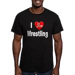 I Love Wrestling Men's Fitted T-Shirt (dark)