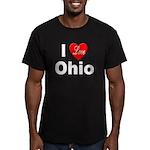 I Love Ohio Men's Fitted T-Shirt (dark)