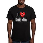 I Love Rhode Island Men's Fitted T-Shirt (dark)
