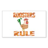 Rooster Rectangle Decal