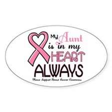 In My Heart 2 (Aunt) PINK Oval Decal