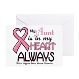 In My Heart 2 (Aunt) PINK Greeting Cards (Pk of 10