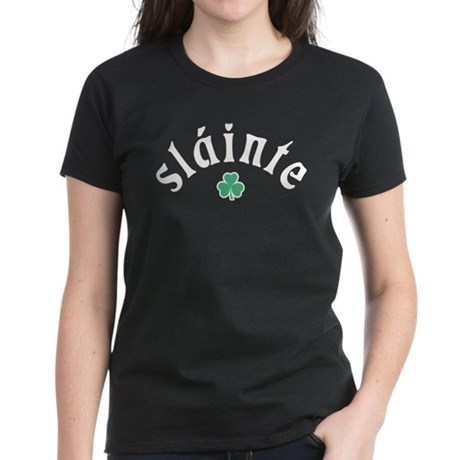 Slainte [shamrock] Women's Dark T-Shirt