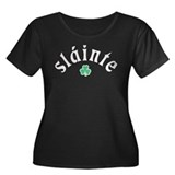 Slainte [shamrock] Women's Plus Size Scoop Neck Da