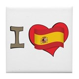 I heart Spain Tile Coaster